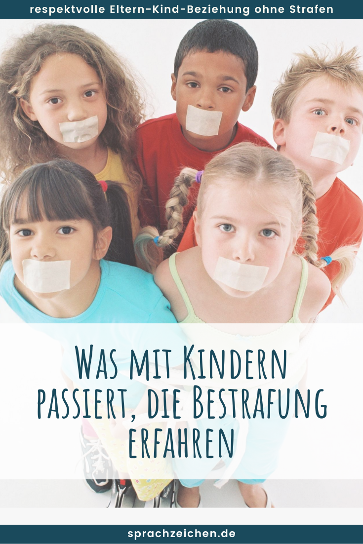 Kinder mit zugeklebten Mund